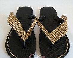 Havaianas Top Customizado Manta Grande de Strass