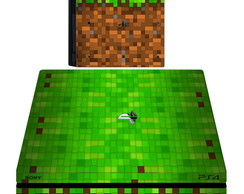 kit Skin adesivo ps4 pró minecraft 2 controles 2 light