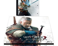 kit Skin adesivo ps4 pró the witcher 2 controles 2 light