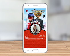 Convite Digital Ladybug personalizado, whatsapp, facebook...