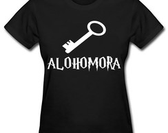 Camiseta Baby Look Harry Potter Alohomora 100% Algodão