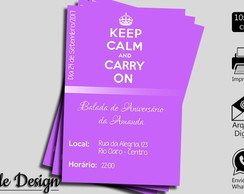 CONVITE DIGITAL KEEP CALM AND CARRY ON!