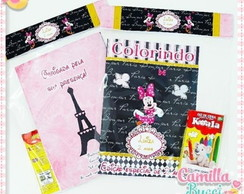 Kit Colorir Minnie em Paris