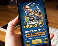 CONVITE DIGITAL WHATSAPP CLASH ROYALE