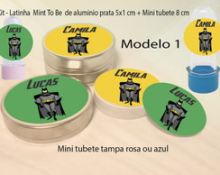 Kit Latinhas e Mini Tubetes-Batman