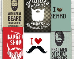 Placa Decorativa Barba Barbearia 20x28
