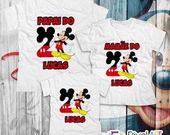 Kit 7 Camisetas Aniversario Mickey Mouse