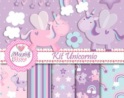 Kit Digital Unicórnio Scrapbook - 03