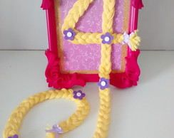 Porta Retrato Decorado Rapunzel