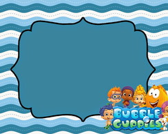 Painel e Placa Personalizados Bubble Guppies