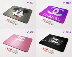 Mouse Pad Chanel Marca Grife Logo Personalize Mousepad