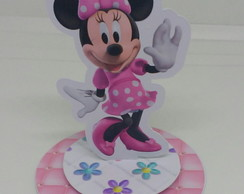 Aplique 3D Minnie rosa para latinhas mint to be