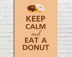 Placa Decorativa Keep Calm eat a Donut 20x28