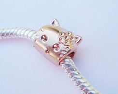 Berloque Banhada Ouro Rose HELLO KITTY