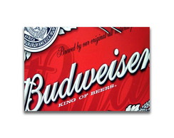 Placa Decorativa MDF - BUDWEISER