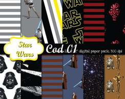 PAPEL DIGITAL STAR WARS
