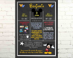Quadro DigitalChalkboard Mickey