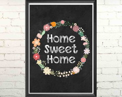 Quadro Digital Chalkboard Home Sweet Home