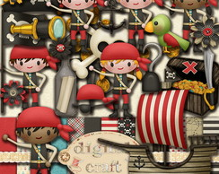 Kit Scrapbook Digital - Piratas III