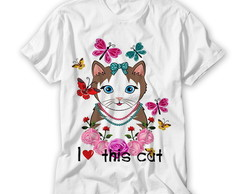 Camiseta I Love This Cat