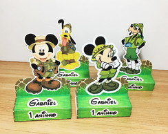 Porta Chocolate duplo tema Mickey Safari