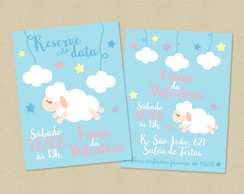 Kit Save the Date Convite Digital Ovelha
