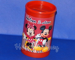 Cofrinho Personalizado Minnie e Mickey