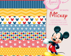 Kit Digital Personagens - Mickey