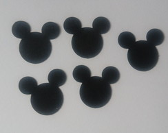 50 mini aplique cabeça do Mickey ou Minnie