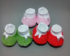 Sapatinhos, Kit com 3 Pares coloridos