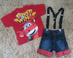 Conjunto Fantasia Super Wings Jet