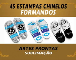 Estampas Chinelos Formandos Formatura