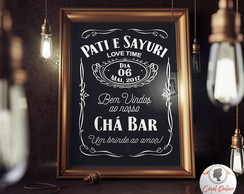 Chalkboard Decorativo Chá Bar Boteco | ARTE DIGITAL
