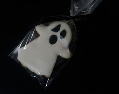 Biscoitos decorados Fantasma Halloween