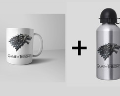 Kit Personalizado Caneca + Squeeze - Game of Thrones
