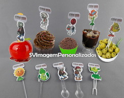 Plants vs Zombies Topper Tag ou Plaquinha