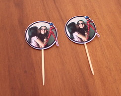 Toppers para doces c/ foto - Lady bug