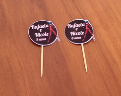 Toppers para doces com texto - Lady bug