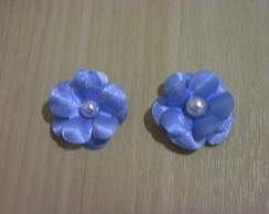 Mini flores de tecido modelo5 aplique bordado kit 50un
