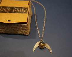 Colar Harry Potter Pomo de Ouro