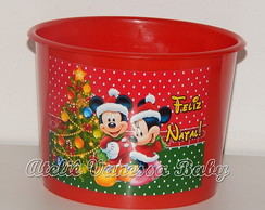 Balde Mickey e Minnie Natal