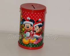 Cofre Mickey e Minnie Natal