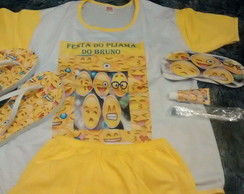 Kit festa do pijama com chinelo pijama kit higiene