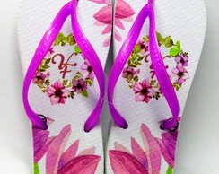 Chinelo Floral Lilás