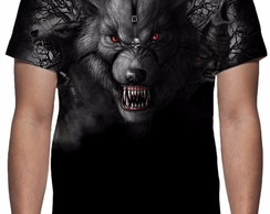 Camiseta Lobos Black Wolf- Estampa Total