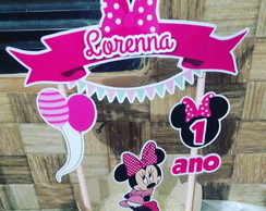 CakeTopper Minnie Rosa