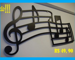 Quadro Decorativo Musical Clave De Sol -