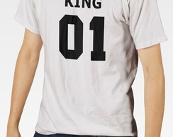 Camiseta KING QUEEN 01 Masc Fem BW