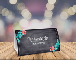 Placa de Reservado - Arte Digital