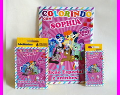 Revista Kit Colorir com Giz e Massinha My Little Pony